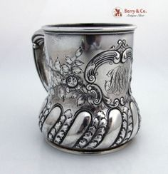 Large Fancy Baby Cup Sterling Silver Gorham 1899