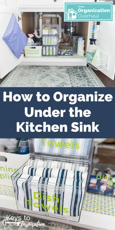 How to Organize Under the Kitchen Sink How to organize under the kitchen sink. Get rid of all the clutter and create a functional and beautiful organized cabinet. Learn exactly what organizing products to buy. - Gray N Black Organize Kitchen Kitchen Sink Decor, Under Kitchen Sinks, Kitchen Sink Faucets, Buy Kitchen, Kitchen Ideas, Kitchen Organization, Organization Hacks, Kitchen Storage, Organizing Kitchen Cabinets