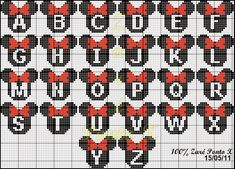 "Delicate Corner: Charts Cross Stitch ""Monograms Michey and Minnie"""