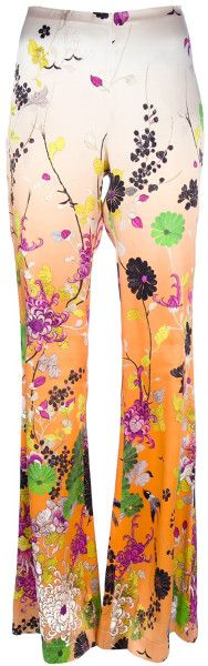 Giane Capato: Jean Paul Gaultier Printed Flared Trouser in Multicolor (natural) -