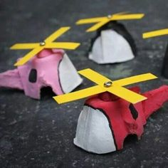 Egg carton airplane for Leo