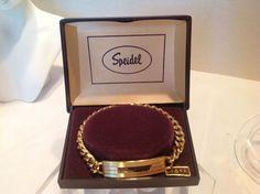Vintage Speidel New Old Stock Engravable ID Bracelet-Original Box, Unused #Speidel