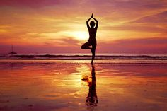 How Office Yoga Can Improve Well Being meditation beach sunset - Google Search