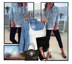 """""""Denim Shirt"""" by daiscat ❤ liked on Polyvore featuring Topshop, Tresics, Old Navy, DKNY and Madewell"""