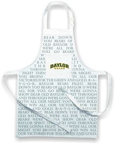 Yes! #Baylor fight song apron