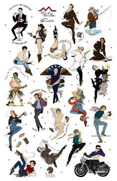 Image of Men of Twin Peaks Flash Sheet