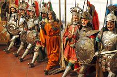 Pupi Siciliani - Re Carlo Magno con i Paladini di Francia