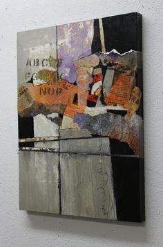 """""""Billboard 4"""" 24x18 acrylic collage by Carol Nelson"""
