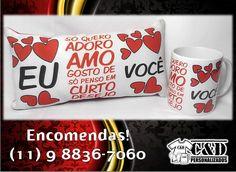 kit caneca  almofada dia dos namorados Diversas estampas! Encomendas pelo tel/whatsapp: 11 9 8836-7060 #diadosnamorados #amor #almofada #caneca
