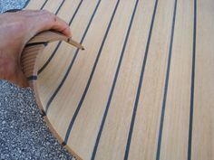 NuTeak has the luxurious look and feel of an authentic teak deck that . - NuTeak has the luxurious look and feel of an authentic teak deck that you … - Make A Boat, Build Your Own Boat, Diy Boat, Transporteur Volkswagen, Vw T5, Foodtrucks Ideas, Teak, Vw California Beach, Iveco Daily 4x4