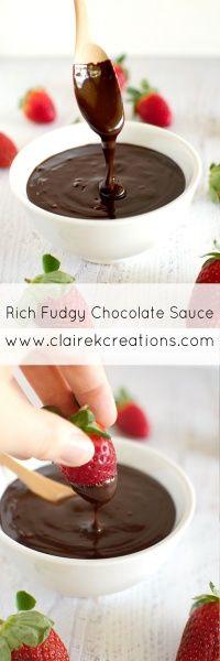 Rich fudgey chocolat