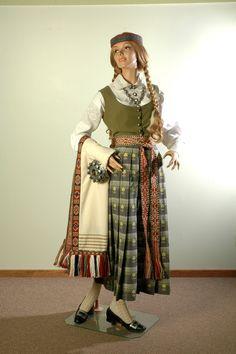 Women's folk dress. Latvia, Zemgale's district