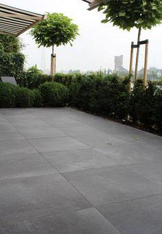 Ceramic garden tiles from the Italian manufacturer Tagina Ceramiche D'arte. Backyard Pool Designs, Patio Design, Backyard Patio, Backyard Landscaping, Garden Design, Garden Tiles, Garden Paving, Terrace Garden, Back Gardens