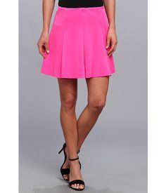 Gabriella Rocha Phoebe Scuba Skater Skirt Neon Pink - 6pm.com