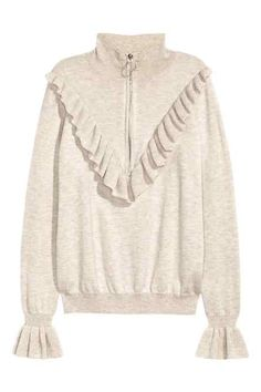 Fine-knit jumper with a frill: CONSCIOUS. Jumper in a soft, fine knit containing… Fashion Forecasting, Knitting Blogs, Cute Skirts, Mode Inspiration, Long Sweaters, Stylish Outfits, Lounge Wear, Fashion Online, Ideias Fashion