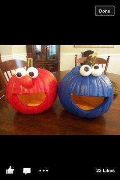 Sesame Street pumpkins
