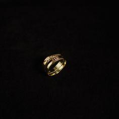 Gouden damesring met korenaar, vervaardigd van 2 trouwringen. #goudsmidmetpassie #goudsmidmargriet #ring #handgemaaktesieraden
