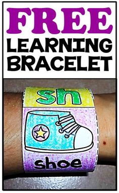 FREE word work learning bracelets for beginning, middle & ending sounds, blends & digraphs & CVC words! Kindergarten Language Arts, Kindergarten Literacy, Literacy Activities, Preschool, Phonics Words, Cvc Words, Daily 5, Teaching Reading, Learning