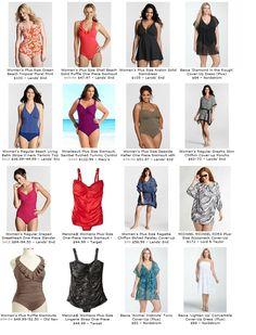 Plus Size Swimwear / Curvy Swimsuit Pink Bandeau Bikini, Floral Bikini Set, Cut Out Bikini, High Leg Bikini, Plus Size Bikini, Plus Size Swimwear, Curvy Fashion, Plus Size Fashion, Chic And Curvy
