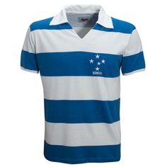 Camisa Liga Retrô Brasil 1956 - Azul+Branco