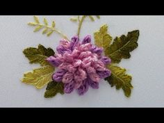 Brazilian embroidery *Chrysanthemum Flowers* top embroidery - top embroidery In this video you will learn How to embroider chrysanthemums Thanks e. Brazilian Embroidery Stitches, Hand Embroidery Videos, Embroidery Works, Hand Embroidery Stitches, Ribbon Embroidery, Embroidery Supplies, Embroidery Needles, Sewing Collars, Stitch Witchery