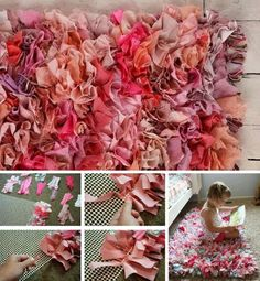 Easy Rag Rug DIY Watch The Quick Video Tutorial You'll love this easy rag rug diy and you can make it in your favourite colours. It's super easy to make. Watch the video tutorial too. Baby Crafts To Make, Diy Crafts To Sell, Handmade Crafts, Diy Carpet, Rugs On Carpet, Carpets, Cheap Carpet, Hall Carpet, Rag Rug Diy
