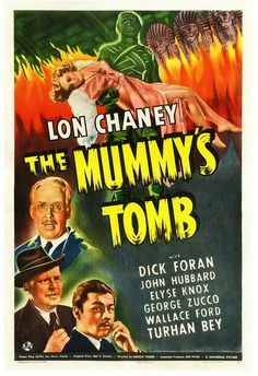 Lon Chaney's The Mummy's Tomb, 1942. #vintage #movies #1940s #horror_films