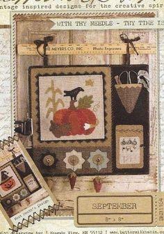 BUTTERMILK BASIN September Wool and Cotton  Pumpkin, Corn, Crow Fall Halloween #BUTTERMILKBASIN #SEASONAL