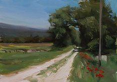 Julian Merrow-Smith: Today's painting : Track near Flassan