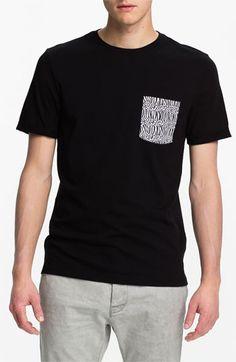 Topman 'High Roller' Animal Print Pocket T-Shirt