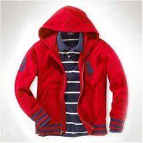 Polo Ralph Lauren Big Pony Full-Zip Jacket Hooded Red