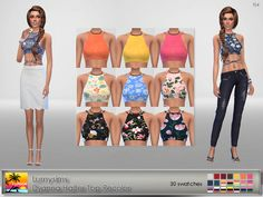 It ' s a recolor of LumySims top and you will need the original mesh from here . - 30 swatches - everyday, formal, party - teen ...