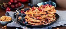 Bananpannkaka Pancakes, Veggies, Gluten, Breakfast, Food, Morning Coffee, Vegetable Recipes, Crepes, Griddle Cakes