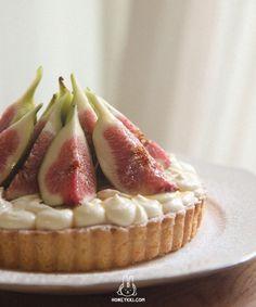 [Fig Tart] 무화과 타르트 Fig Tart, Brownies, Savory Tart, Forest Cake, Cheesecake, Mary Berry, Cafe Food, High Tea, Bakery