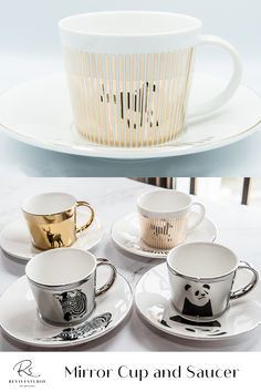 This beautiful ceramic 8 oz mirror-like cup and saucer set brings awareness about vulnerable and endangered animals. Also the awareness of respecting all creatures and lives on earth. Mirror Cup, Cup And Saucer Set, Creatures, Earth, Ceramics, Mugs, Tableware, Animals, Beautiful