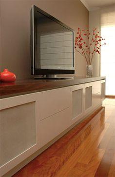Timber top entertainment unit