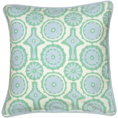 Rizzy Home Printed with Geometric Cording Details Decorative Throw Pillow