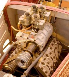 Old Blown Flathead sporting quad strombergs...