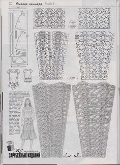 Captivating Crochet a Bodycon Dress Top Ideas. Dazzling Crochet a Bodycon Dress Top Ideas. Crochet Skirt Pattern, Crochet Skirts, Crochet Diagram, Crochet Chart, Crochet Motif, Irish Crochet, Crochet Designs, Crochet Clothes, Crochet Lace