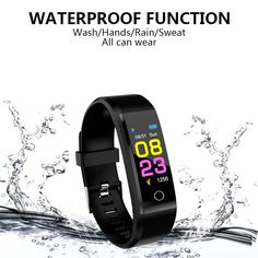 Smart Watch Men Women Heart Rate Monitor Blood Pressure Fitness Tracker Smartwatch Sport Watch Design Concept for ios android +BOX Fitness Tracker, Google Play, Sport Watches, Watches For Men, Tech Gifts For Men, Baby Tech, Bluetooth Gadgets, Android I, Fitness Bracelet