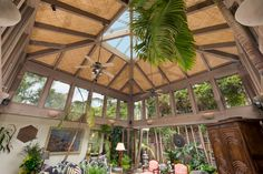 Glass-enclosed porch.