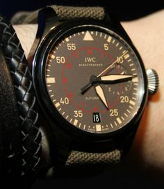 You want a big watch that is easy to read? The iconic classic aviator watch look is one that IWC has been more than successfully perpetuating for quite some time. Watch Crown, Iwc Pilot, Iwc Watches, Top Gun, Omega Watch, Boy Outfits, Guns, Mens Fashion, Big