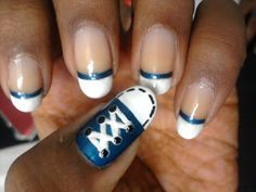 Cute Converse Shoe Nail Art
