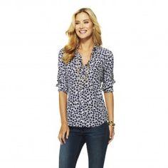 C. Wonder Silk Floral Silhouette Shirt