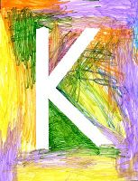 Art Projects for Kids: Masking Tape Letter