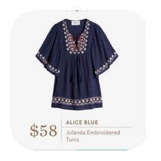 **** Love this embroidered boho inspired top! Perfect with skinnies! Great transition piece from fall to spring.  Stitch Fix Fall, Stitch Fix Spring Stitch Fix Summer 2016 2017. Stitch Fix Fall Spring fashion. #StitchFix #Affiliate #StitchFixInfluencer