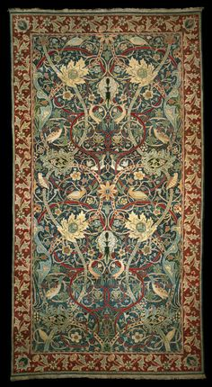 Bullerswood carpet William Morris [woven by Morris & Co Hammersmith, London c1889] V & A museum