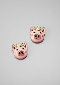 Betsy Johnson Teacup Pig Earrings <----- this is literally the best thing that has ever happened.