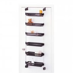 Perfect over the door storage for any room in the house! Over the Door 6 Basket Unit by Neu Home $41.99