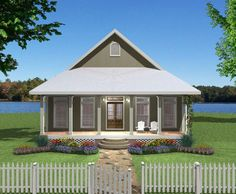 Small Plan, Big Heart - 2568DH | Cottage, Country, Southern, Narrow Lot, 1st Floor Master Suite, PDF | Architectural Designs